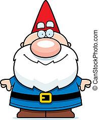 Cartoon Gnome Smiling