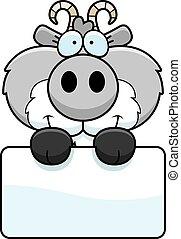 Cartoon Goat Sign