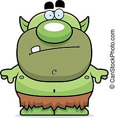 Cartoon Goblin - A cartoon green goblin in a loin cloth.