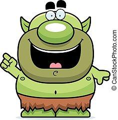 Cartoon Goblin Idea - A cartoon illustration of a goblin ...