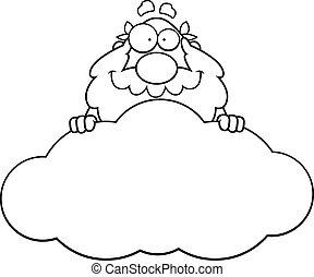 Cartoon God Cloud