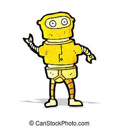 cartoon gold robot