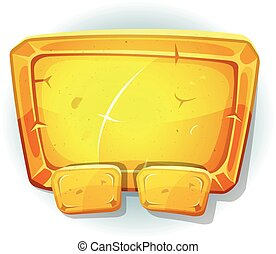 Cartoon Gold Sign For Ui Game