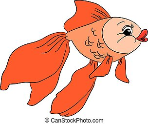 Cartoon goldfish