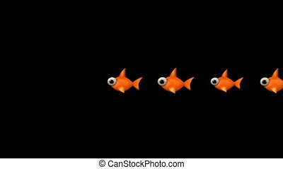 cartoon goldfish.