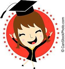Cartoon Graduation Vector