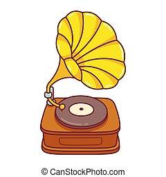 Cartoon Gramophone drawing