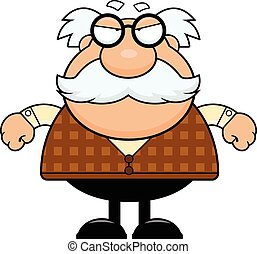 Cartoon Grandpa Grumpy - Cartoon illustration of a grandpa ...