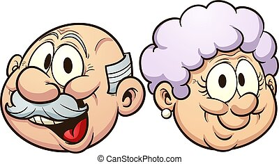 Cartoon grandparents - Grandparents grandmother and ...