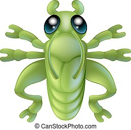 Cartoon grasshopper insect bug