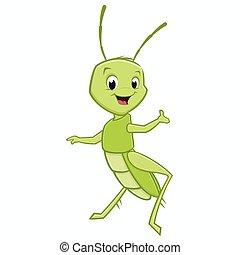 Cartoon Grasshopper