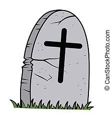 Cartoon Grave Vector