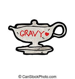 cartoon gravy boat