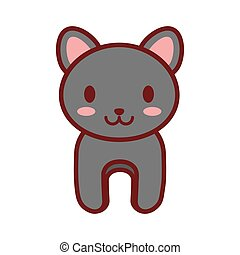 cartoon gray cat animal image