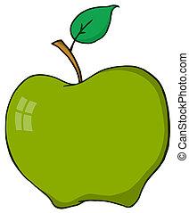 Cartoon Green Aplle