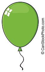 Cartoon Green Balloon