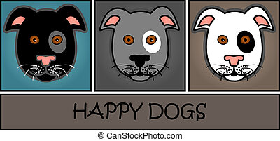Cartoon grey dog