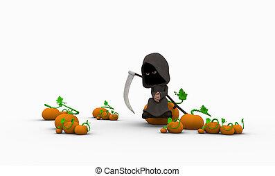 cartoon grim reaper character