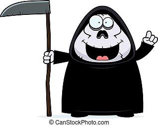 Cartoon Grim Reaper Idea - A cartoon illustration of a grim...