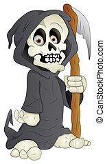 Cartoon Grim - Vector Illustration - Conceptual Creative...