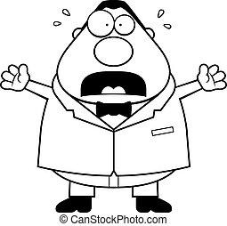 Cartoon Groom Scared