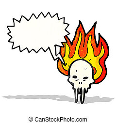 cartoon gross melting skull