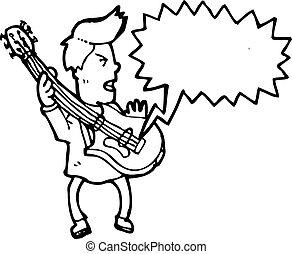 cartoon guitar player