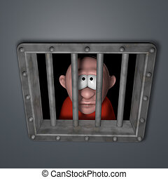 cartoon guy in jail