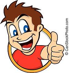 cartoon guy thumbs up