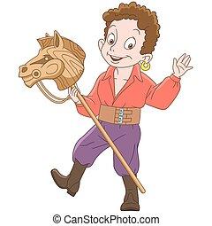 Cartoon gypsy boy