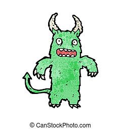 cartoon hairy monster