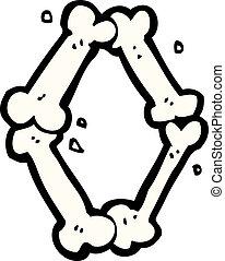 cartoon halloween bone number