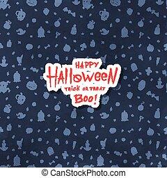 Cartoon Halloween card.
