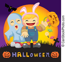 cartoon Halloween card