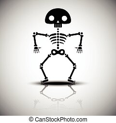 cartoon halloween skeleton