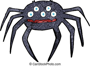 cartoon halloween spider
