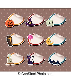 cartoon Halloween Sticker Label