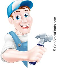 Cartoon Hammer Carpenter