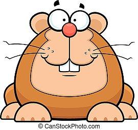 Cartoon Hamster Smiling