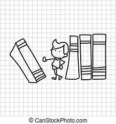 back to school - cartoon hand drawing back to school