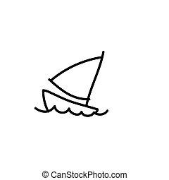 cartoon hand drawing imagination set