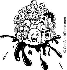 cartoon hand-drawn doodle