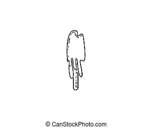 Cartoon hand-drawn doodles Ice Cream illustration