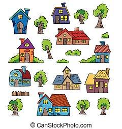 Cartoon Hand Drawn House
