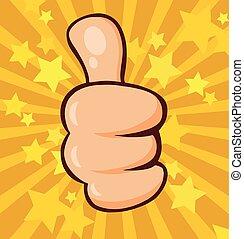 Cartoon Hand Giving Thumbs Up Gesture