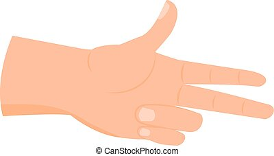 Cartoon hand icon