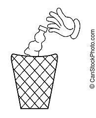 Cartoon hand  - Cartoon hand,business concept