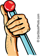 Cartoon hand with leaver vector illustration