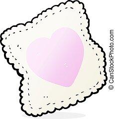 cartoon handkerchief - cartoon love heart handkerchief