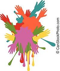 Cartoon Hands with Gestures - Cartoon human hands with...